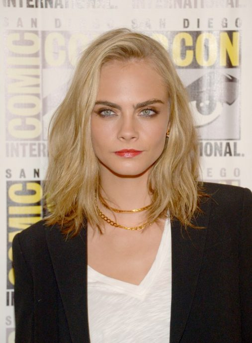 SAN DIEGO, CA - JULY 21: Cara Delevingne attends the EuropaCorp press line during Comic-Con International 2016 at Hilton Bayfront on July 21, 2016 in San Diego, California.   Dave Mangels/Getty Images/AFP