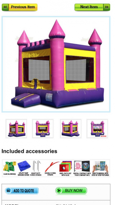 castillo inflable cita