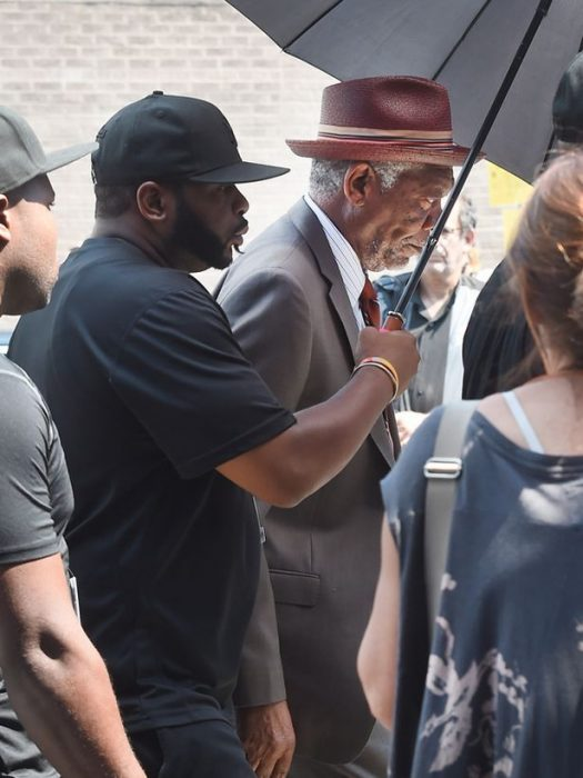 Morgan Freeman en el set