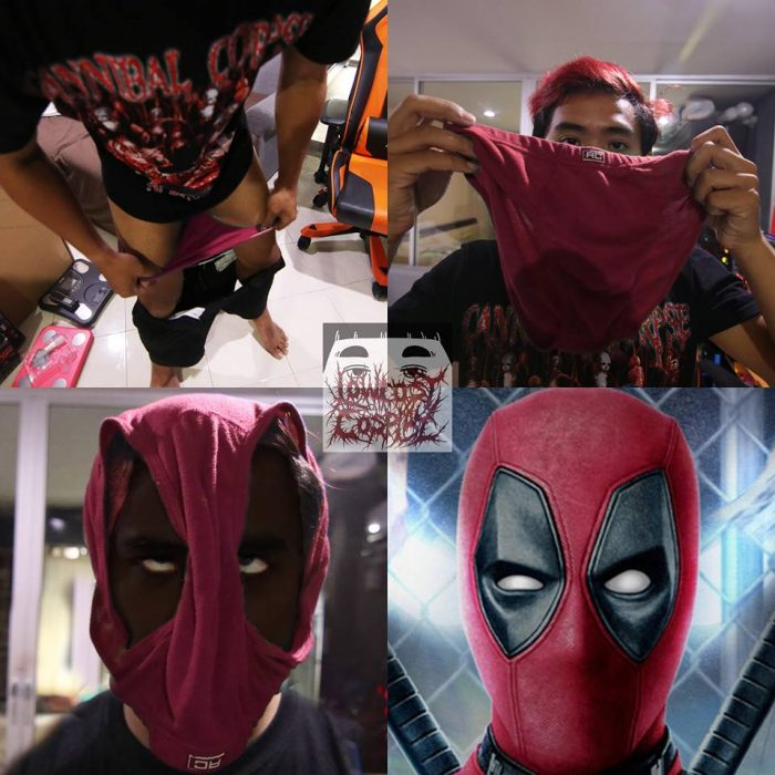 Cosplay bajo costo deadpool