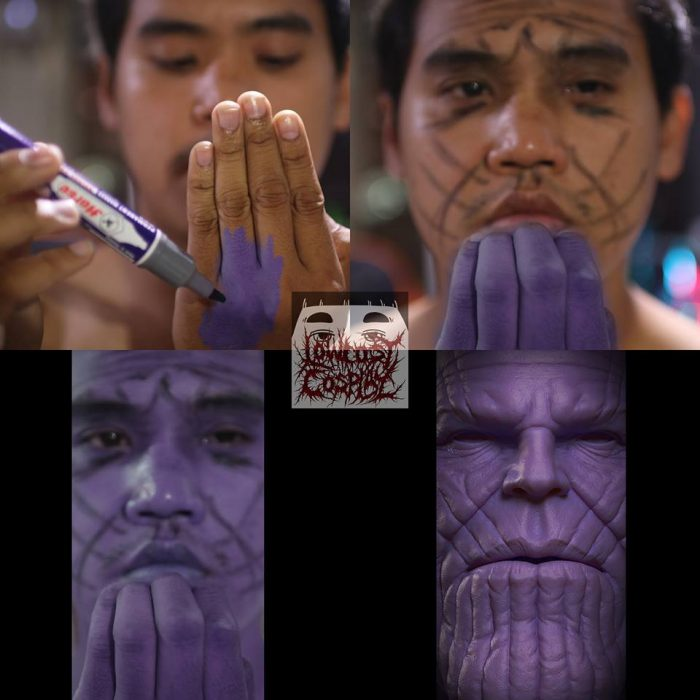 Cosplay bajo costo thanos
