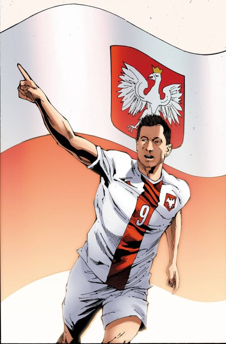 Lewandowski en cómic de Marvel