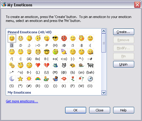 MSN emoticons