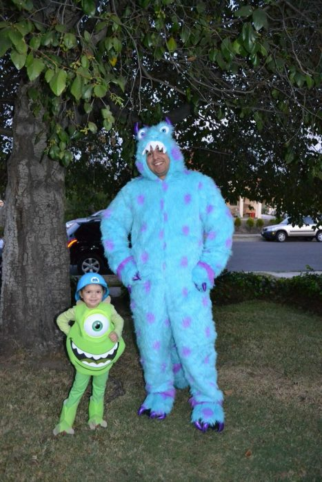 Disfraz padre-hijo monsters inc