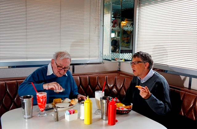 Bill Gates y Warren Buffet