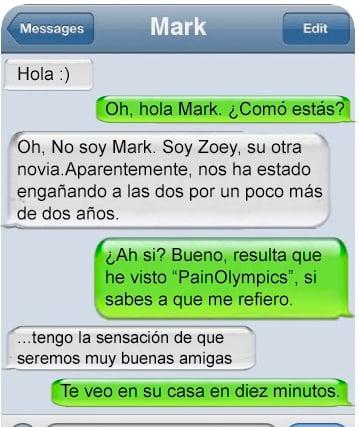 infieles mensaje de texto