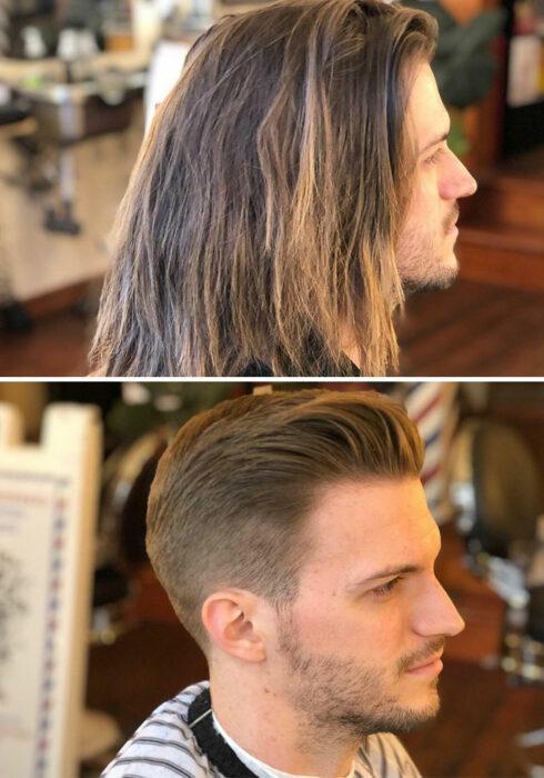 antes-después cabello largo